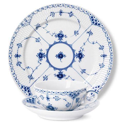 Royal Copenhagen Geschirr by Royal Copenhagen Blue Fluted Half Lace Dinnerware Gump S