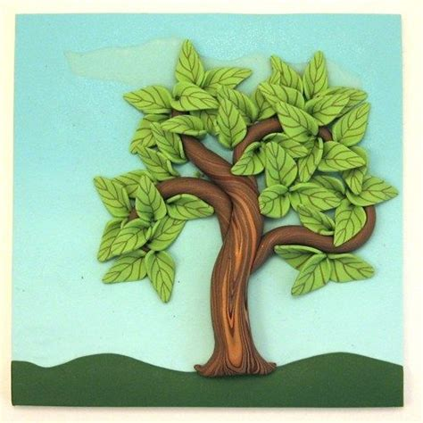 polymer clay home decor summer fairy tree wall hanging polymer clay home d 233 cor