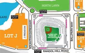 rangers ballpark parking map rangers valet rangers