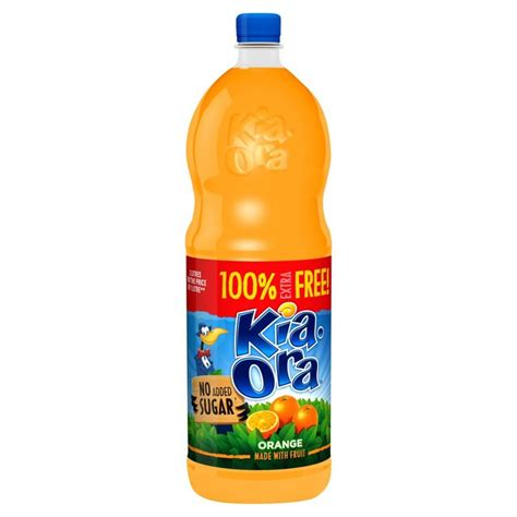 Kia Ora Kia Ora Orange Squash No Added Sugar 2l From Ocado
