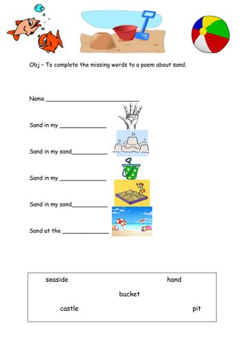 seaside sand list poem by lcdixon88 teaching resources tes