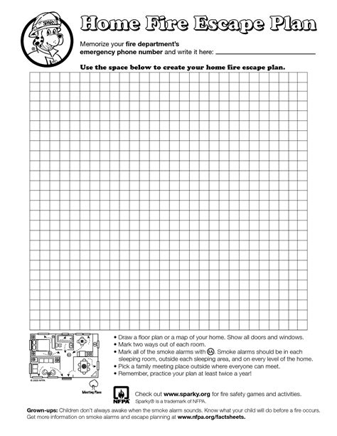 home fire escape plan template best photos of home fire plan template fire safety