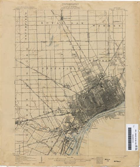 map of detroit michigan historical topographic maps perry casta 241 eda map