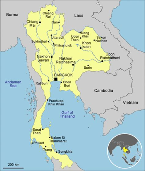 map of thailand country thailand country profiles
