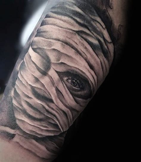 60 mummy tattoo designs for men wrapped egyptian ink ideas