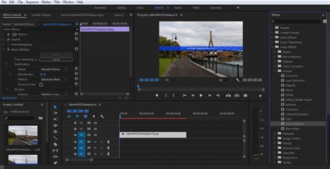 adobe premiere pro warp stabilizer how to create silky smooth hyperlapse photography using