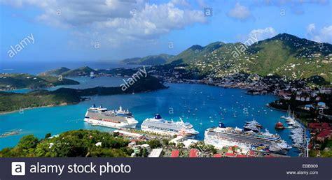 tow boat us city island cruise ships in charlotte amalie harbor st thomas virgin