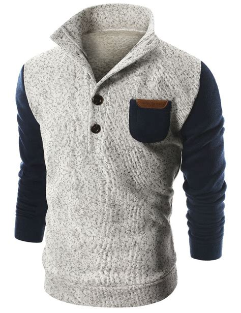 Contrast Mock Neck Knit Top best 25 mens sweater ideas on