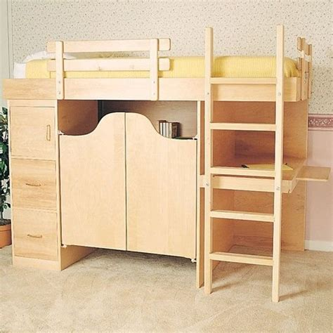 Woodworking Plans Bunk Beds Woodworking Project Paper Plan To Build 3 In 1 Bunk Bed Plan No 844