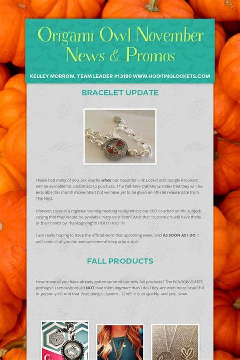 Origami Owl News - discover and save creative ideas