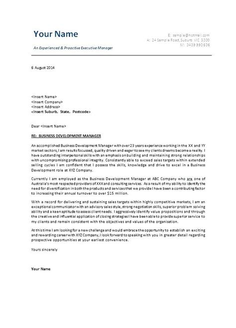 Cover Letter Proper Business Letter Format 2016 Sample