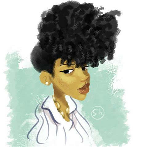 see this instagram photo by ny mcgee afro hair curly ubb instagram find of the month artist illustration315