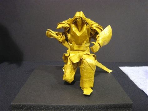 Origami Swordsman - gilad s origami page origami usa convention 2008