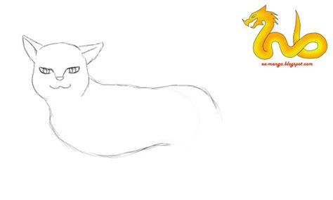 cara menggambar anime kucing