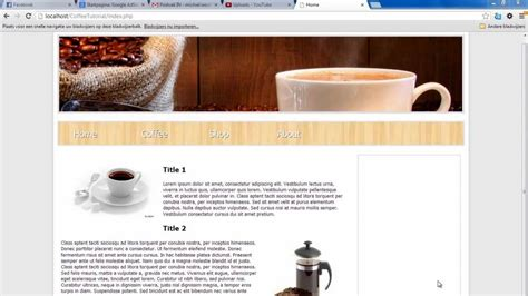 how to create template in php create a website with php part 1 templates
