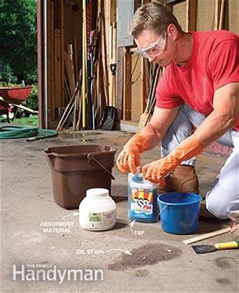 Remove Grease From Concrete Floor by Removing Paint And Other Concrete Stains Test The