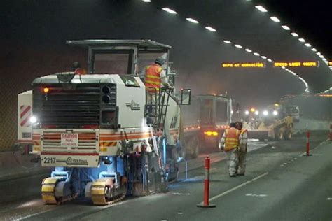 work melbourne test of resurfacing works in melbourne tunnels abc news