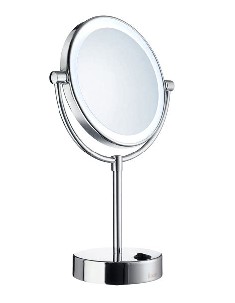 bathroom shaving mirror with light smedbo outline free standing led shaving and make up mirror