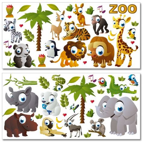 wandtattoo kinderzimmer zoo wandsticker mega set zoo