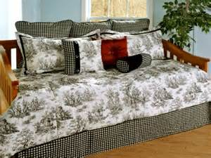 Daybed Bedding Sets Black And White Jamestown Black White Toile Daybed Bedding Comforter Set