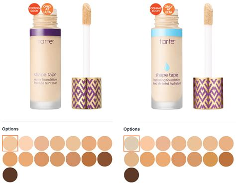 tarte foundation colors not one but two tarte shape foundations are headed