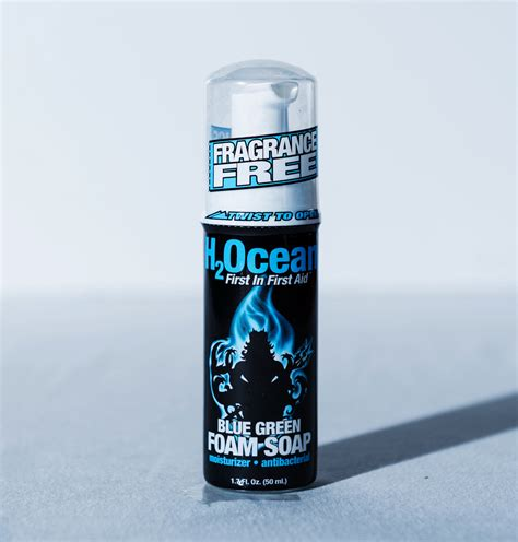 tattoo aftercare drinking 1 7oz blue green foam soap h2ocean