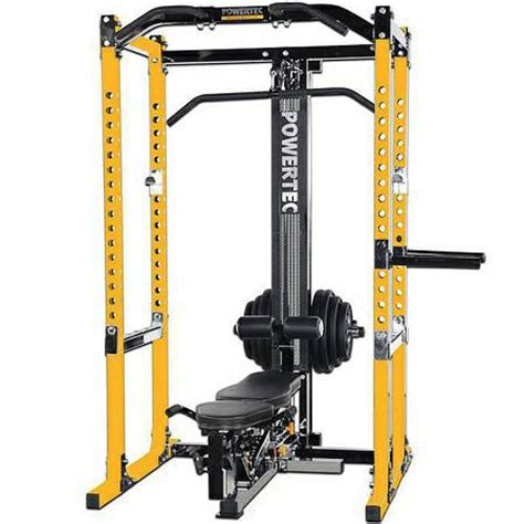 Powertec Power Rack With Lat Tower by Powertec Power Squat Rack Cage Lat Tower Utility Bench