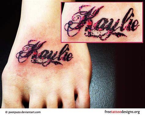 name tattoo ideas on foot foot tattoo gallery