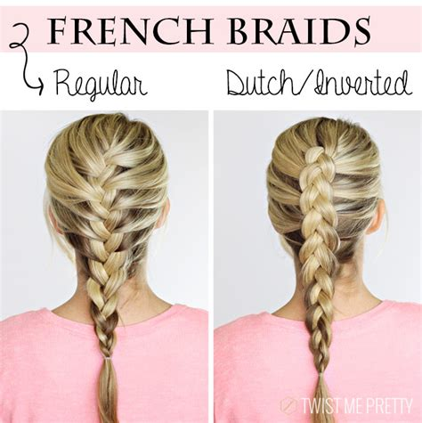 how to do french braids quickly diy 4 basic braids twist me pretty