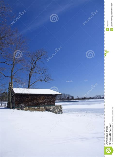 Frozen Cabin by Cabin On Frozen Lake Royalty Free Stock Image Image 1938666