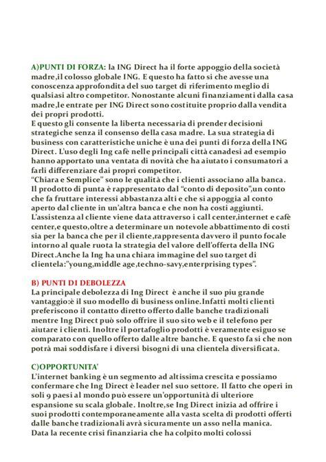 Banca Direct by Swot Analysis Della Banca Ing Direct