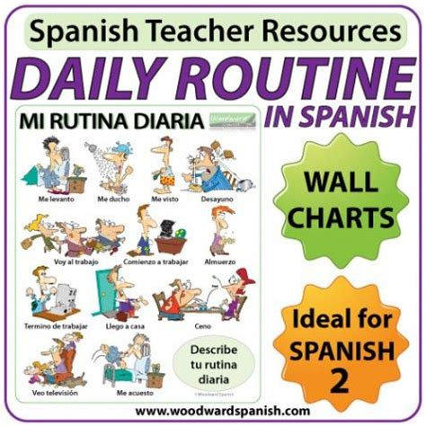 libro snap cards in spanish spanish daily routines wall chart and flash cards la rutina diaria en espa 241 ol spanish