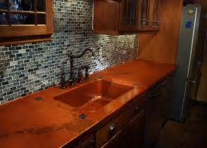 Concrete Countertops Kitchen Richmond Va Copper Concrete Countertop