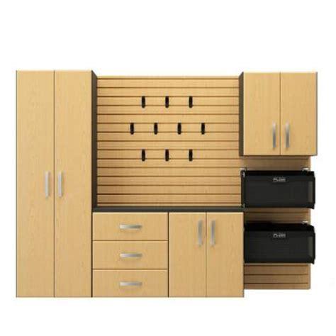Starter Kitchen Cabinet Set Flow Wall Deluxe 72 In H X 96 In W X 16 In D 5 Cabinet Set In Maple Fcs 9612 6m 5m2