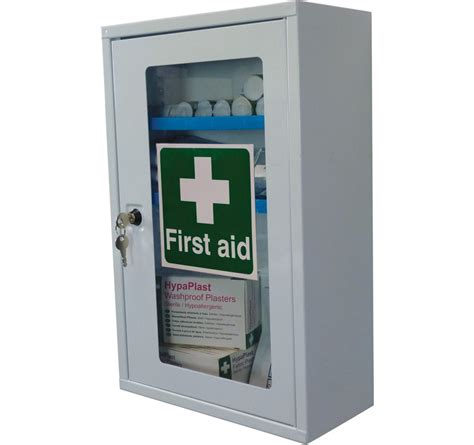 large first aid cabinet first aid cabinet single clear door empty