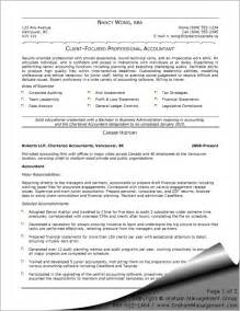 Resume Templates For Accountants by Writing Accounting Resume Sle Free Resume Templates