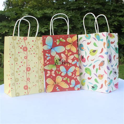 8 Fab Shopping Bags by Avebien 10pcs 21x13x8cm Paper Gift Bag With Handle Wedding