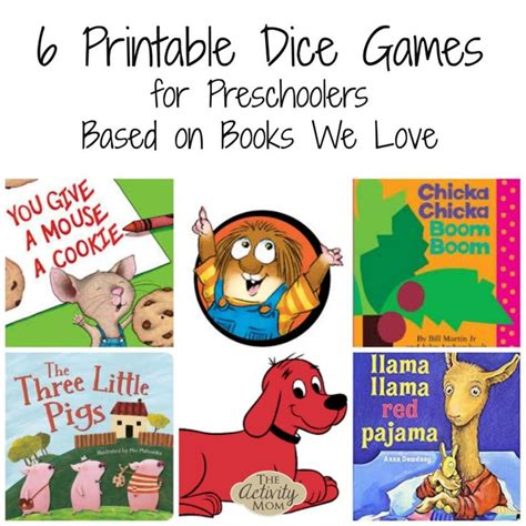 printable dice games for preschoolers 400 best activities based on children s books images on