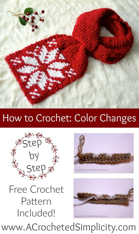 how to change colors crochet crochet color change tutorial a crocheted simplicity