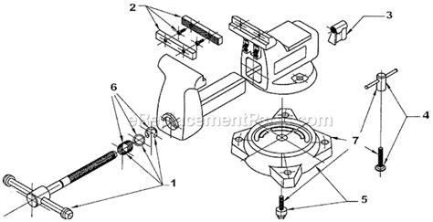 bench vise parts list wilton 676 parts list and diagram ereplacementparts com