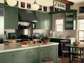 Green Kitchen Cabinets Painted kitchen cabinets with dark green
