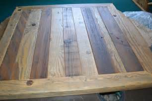 reclaimed barn wood table top 30x30 rustic shabby