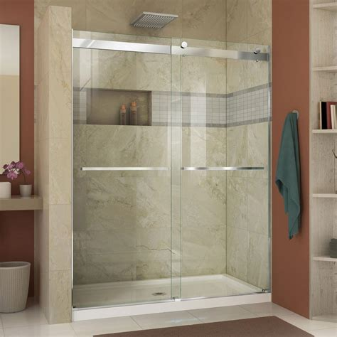 Dreamline Essence 56 In To 60 In X 76 In Semi Frameless Semi Frameless Sliding Shower Door