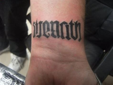 ambigram wrist tattoos ambigram