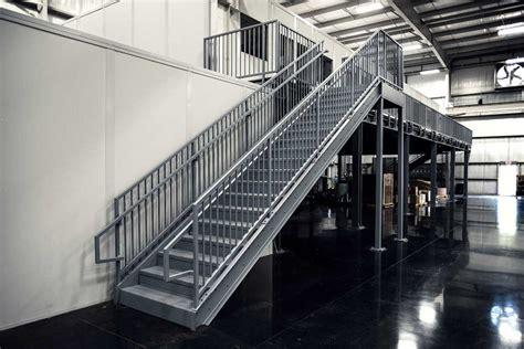 Aluminium Stairs Design Commercial Staircase In Manufacturing Plant Erectastep