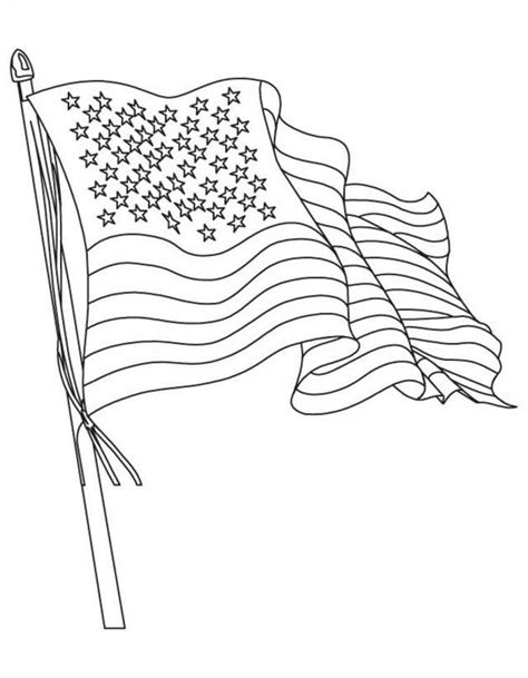 Download American Flag Coloring Page Waving Flag Or Print Flag Coloring Page Pdf