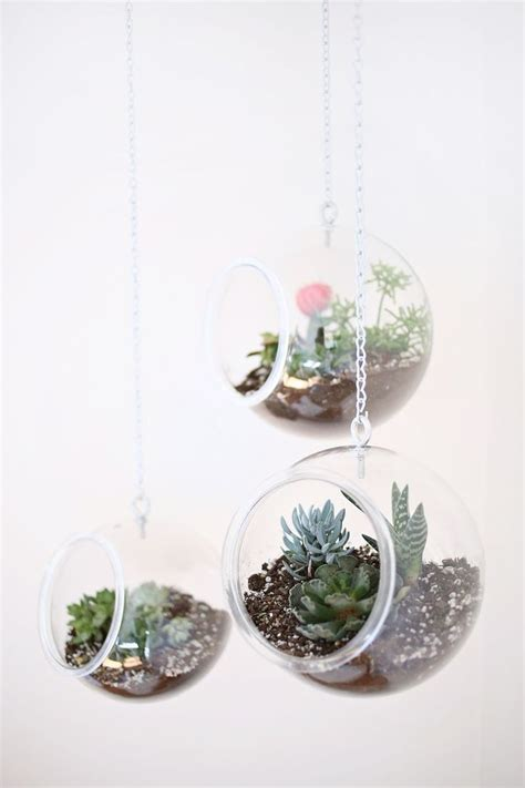 diy fishbowl hanging planter diy pinterest