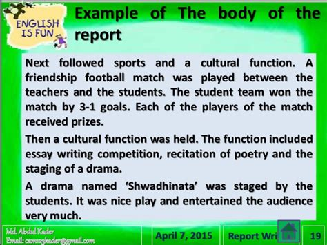 Time Football Essay by Newspaper Report Sle Essay