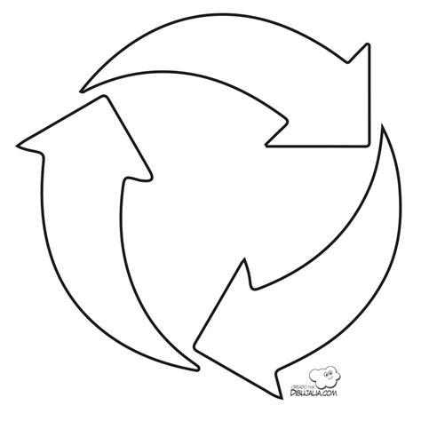dibujos de reciclaje para colorear az dibujos para colorear simbolo de reciclaje dibujalia dibujos para colorear