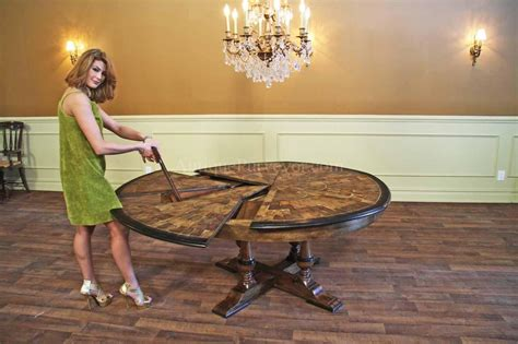 round table for 6 people large round walnut dining room table with leaves seats 6